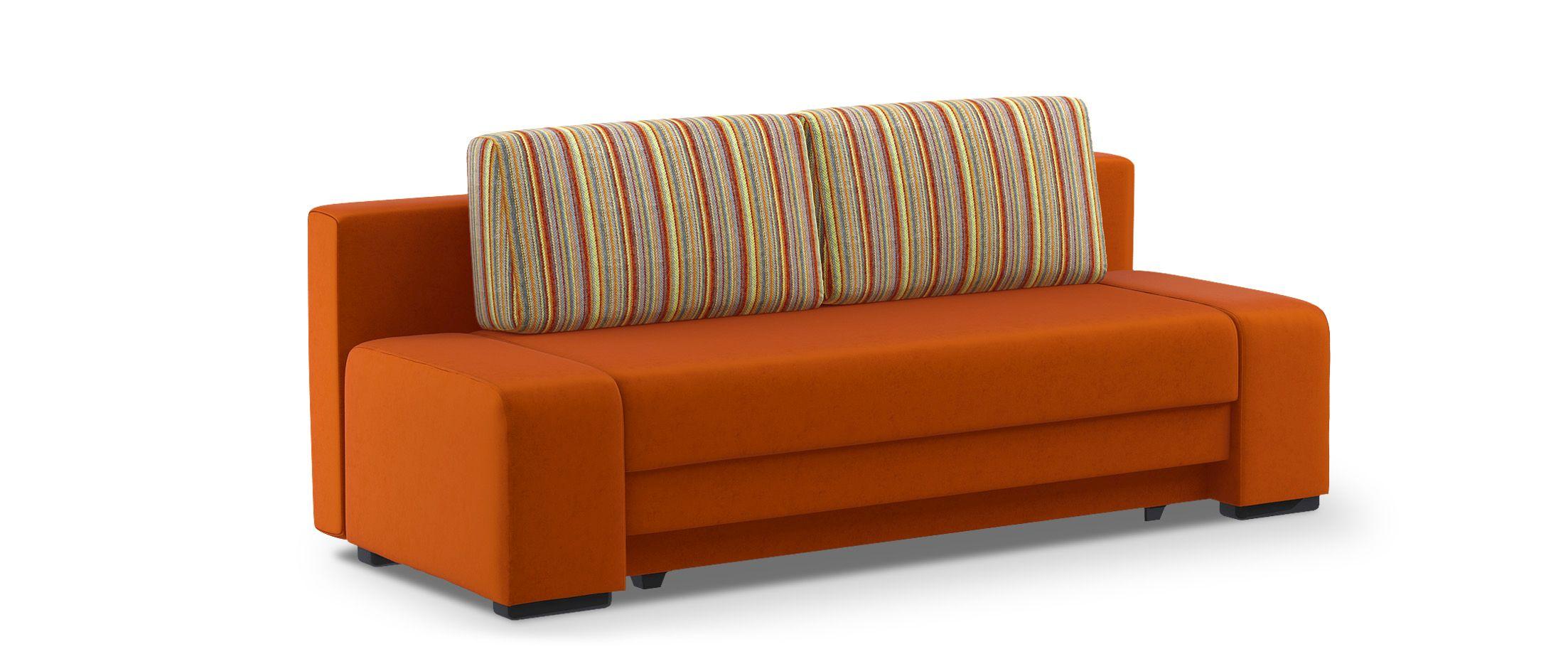 Диван прямой еврокнижка Токио 009Гостевой вариант и полноценное спальное место. Размеры 205х93х89 см. Купить оранжевый диван еврокнижка в интернет-магазине MOON-TRADE.RU.<br>