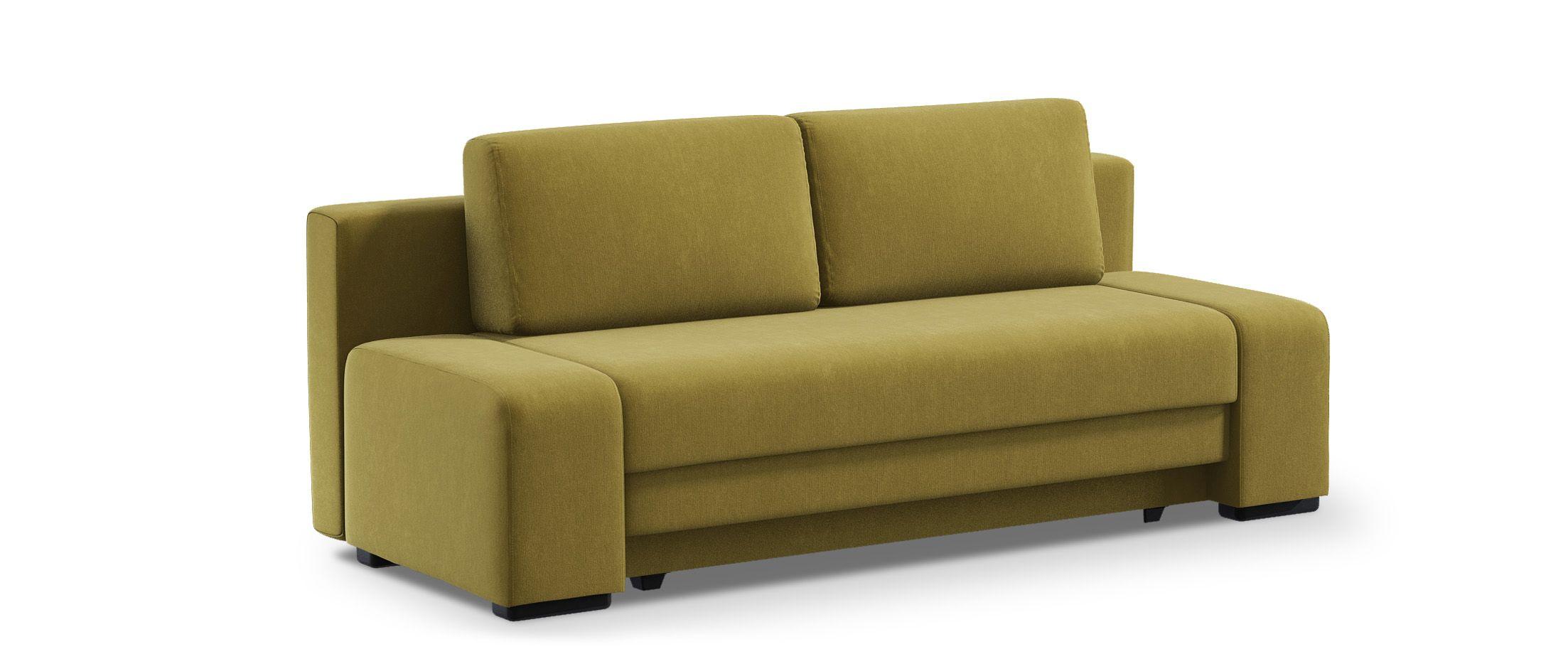 Диван прямой еврокнижка Токио 009Гостевой вариант и полноценное спальное место. Размеры 205х93х89 см. Купить желтый диван еврокнижка в интернет-магазине MOON-TRADE.RU.<br>