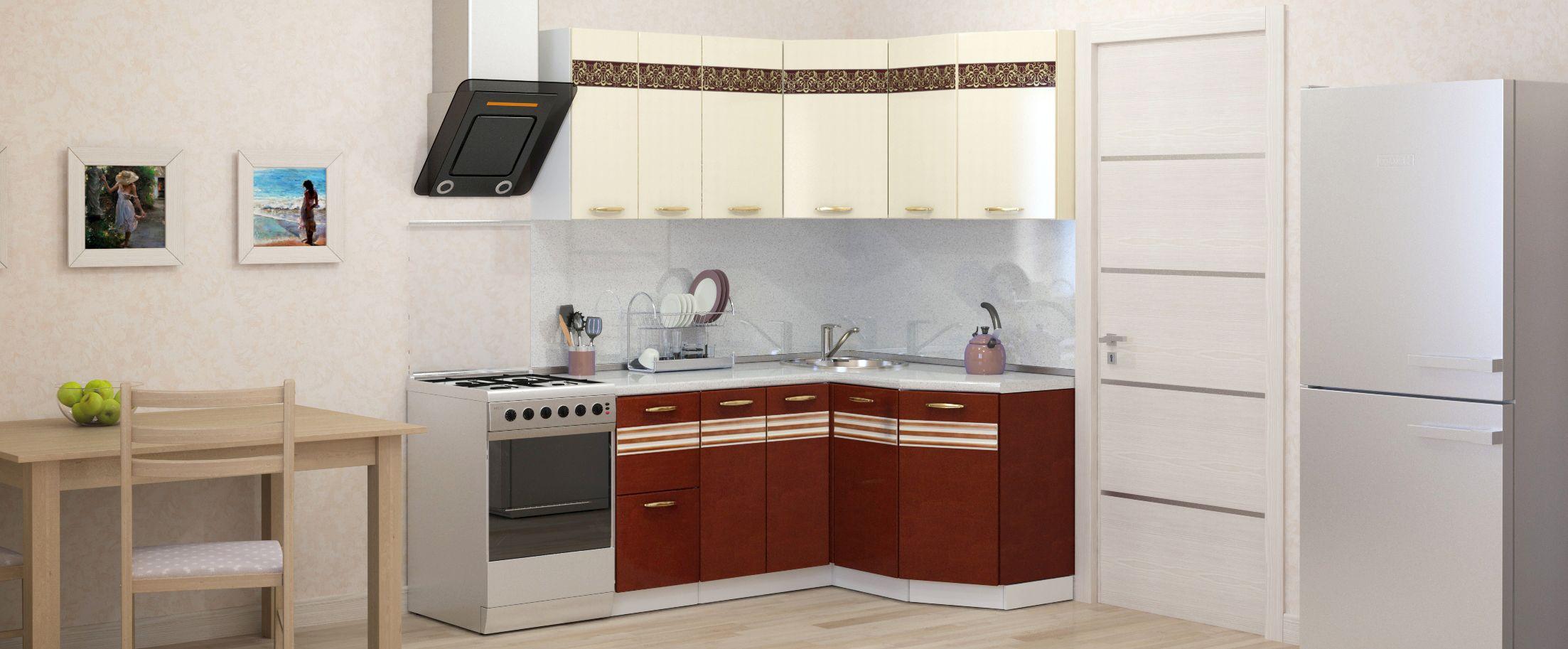 Кухня Корица угловая 1,6х1,35 мКупить удобный и практичный набор кухонного гарнитура в интернет магазине MOON-TRADE.RU. Быстрая доставка, вынос упаковки, гарантия! Выгодная покупка!<br>
