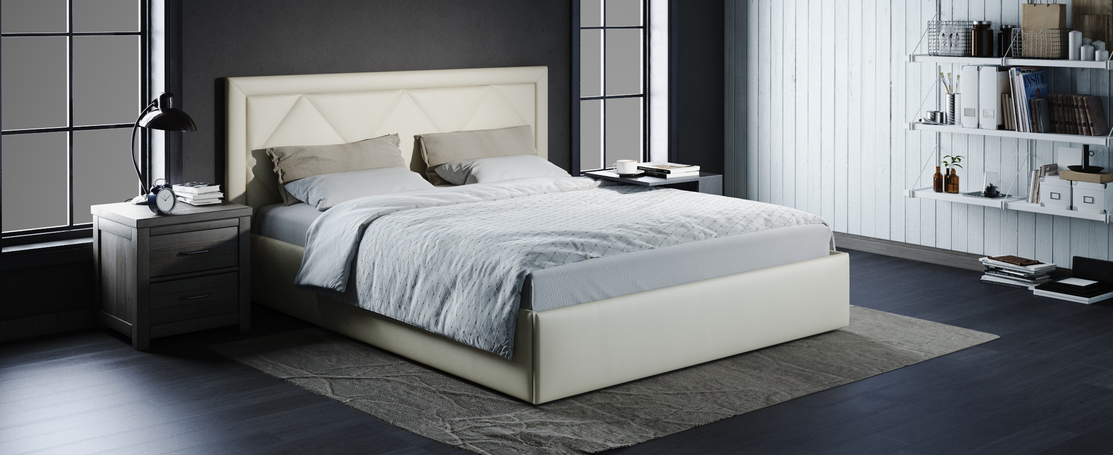 Кровать двуспальная Доменика 140х200 Модель 1203Модель Доменика придаст комнате индивидуальность сделает вашу спальню особенной.<br>