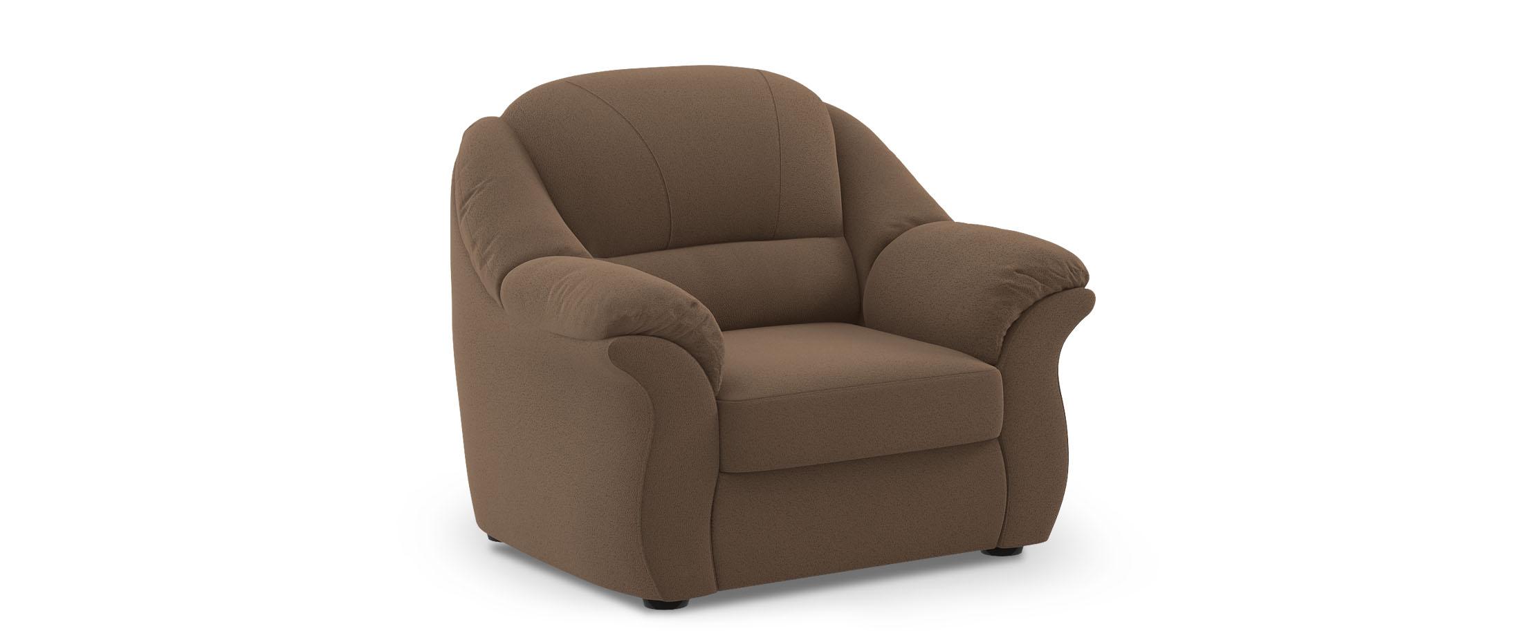Кресло Бостон 017Купить коричневое кресло Бостон из замши от производителя. Доставка от 1 дня. Подъём, сборка, вынос упаковки. Гарантия 18 месяцев. Интернет-магазин мебели MOON-TRADE.RU<br>