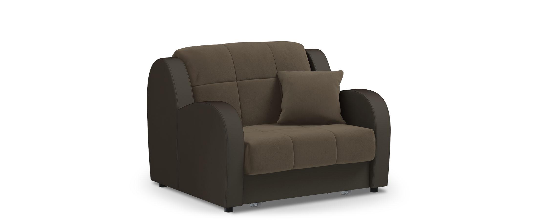 Кресло раскладное Барон 022Купить коричневое кресло-кровать Барон 022. Доставка от 1 дня. Подъём, сборка, вынос упаковки. Гарантия 18 месяцев. Интернет-магазин мебели MOON-TRADE.RU. Артикул: 001712.<br>