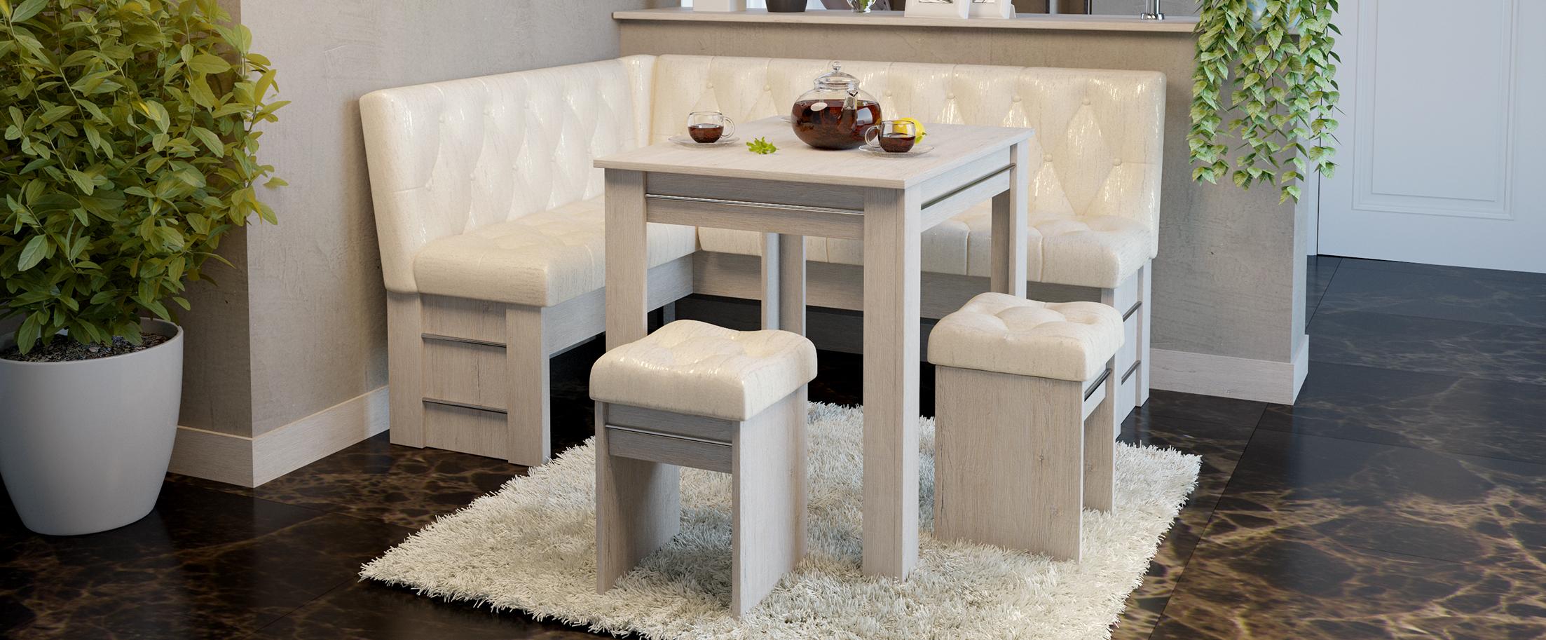 Кухонный уголок ПармаКухонный уголок Парма выполнен в стильном дизайне и органично дополнит любой современный интерьер, будет гармонично смотреться на вашей кухне, притягивая восторженные взгляды домочадцев и гостей<br>