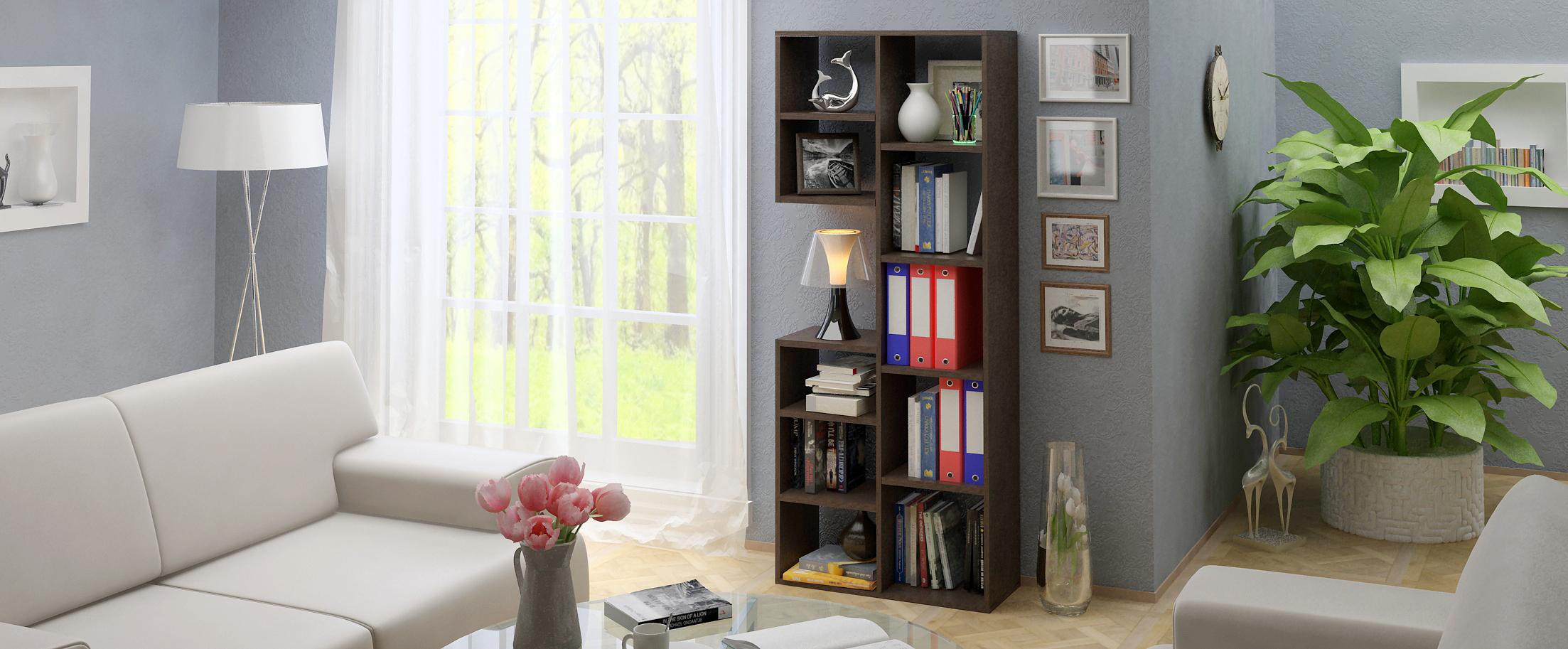 Стеллаж Рикс 2 Модель 828аккуратно хранить не только книги и принадлежности для офисного пользования, но и выигрышно украсить модель предметами декора или цветами.<br>