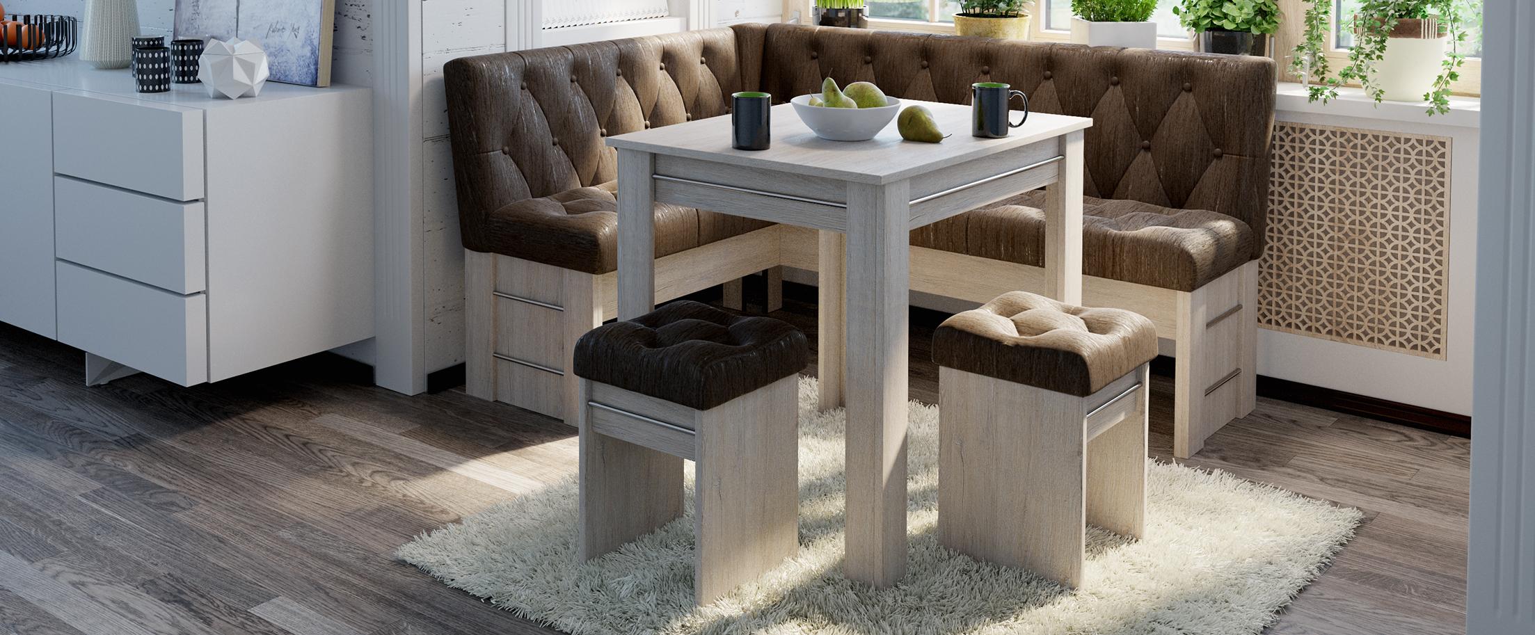 Кухонный уголок Парма Модель 3024Кухонный уголок Парма выполнен в стильном дизайне и органично дополнит любой современный интерьер, будет гармонично смотреться на вашей кухне, притягивая восторженные взгляды домочадцев и гостей<br>