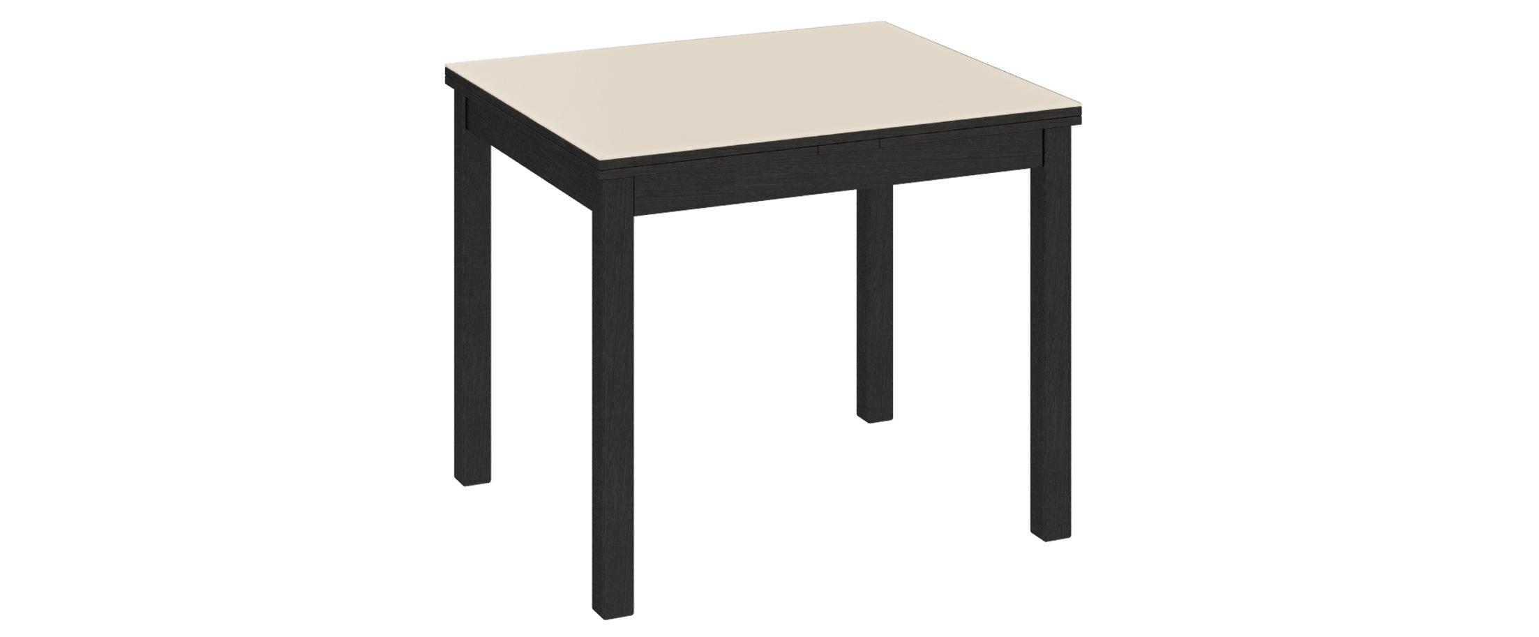 Стол обеденный Диез Т5 Модель 3038Благодаря своим компактным габаритам и контрастному исполнению, стол подойдет для небольших помещений. Гладкая поверхность стола приятна на ощупь и не требует особого ухода.<br><br>Ширина см: 90<br>Глубина см: 74<br>Высота см: 74<br>Цвет корпуса: Венге<br>Цвет столешницы: Бежевый<br>Материал столешницы: Стекло<br>Материал корпуса: Массив бука