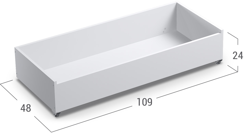 Бельевица 87 литров Модель 046Купить вместительный бельевой короб в интернет-магазине MOON TRADE. Размеры 109х48х24 см. Быстрая доставка, вынос упаковки, гарантия! Выгодная покупка!<br><br>Ширина см: 109<br>Глубина см: 48<br>Высота см: 24<br>Цвет: Белый