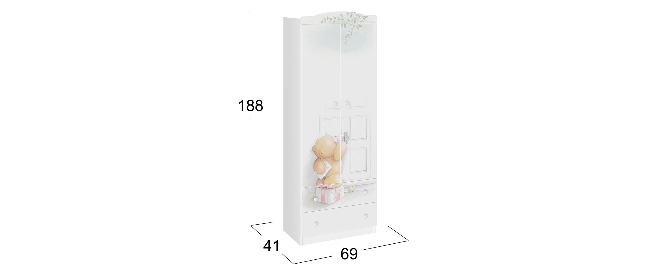 Шкаф 2-дверный Тедди Модель 931