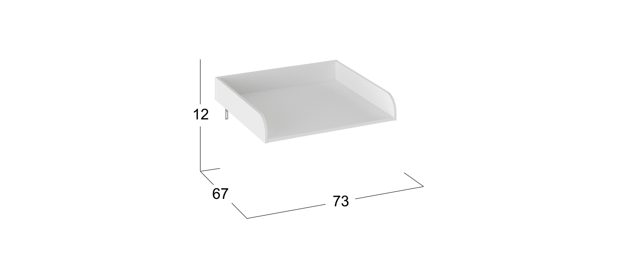 Пеленальная доска к комоду Тедди Модель 931