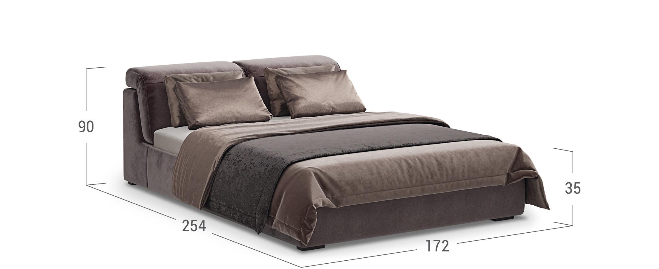 Кровать двуспальная MOON 1107Кровать с подъёмным механизмом MOON 1107. Спальное место 160х200. Мягкое изголовье кровати с подушками с растровым механизмом.<br><br>Ширина см: 172<br>Глубина см: 254<br>Высота см: 105<br>Ширина спального места см: 160<br>Длина спального места см: 200<br>Цвет: Коричневый<br>Материал каркаса: ЛДСП<br>Материал обивки: Велюр<br>Подъемный механизм: Есть<br>Код ткани: 36-153<br>Бренд: MOON