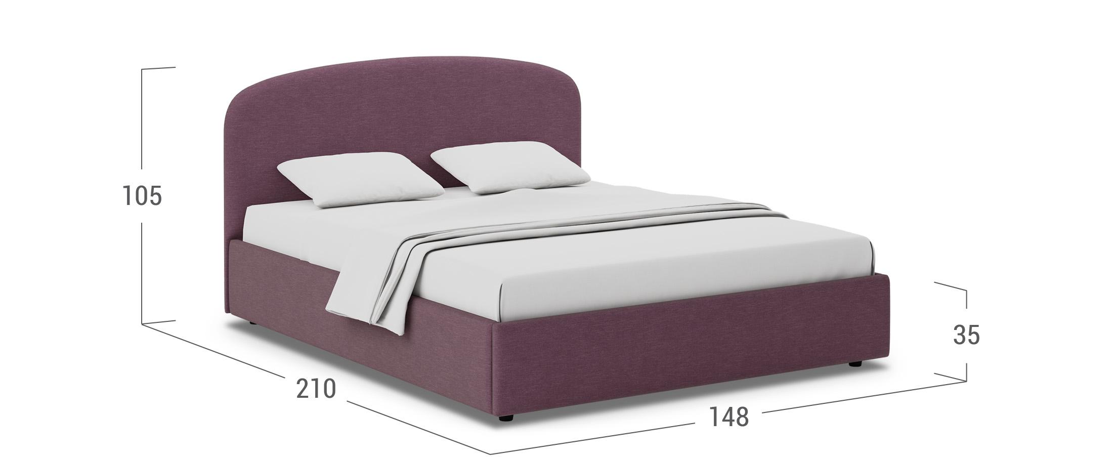 Кровать двуспальная Лия 140х200 Модель 1205