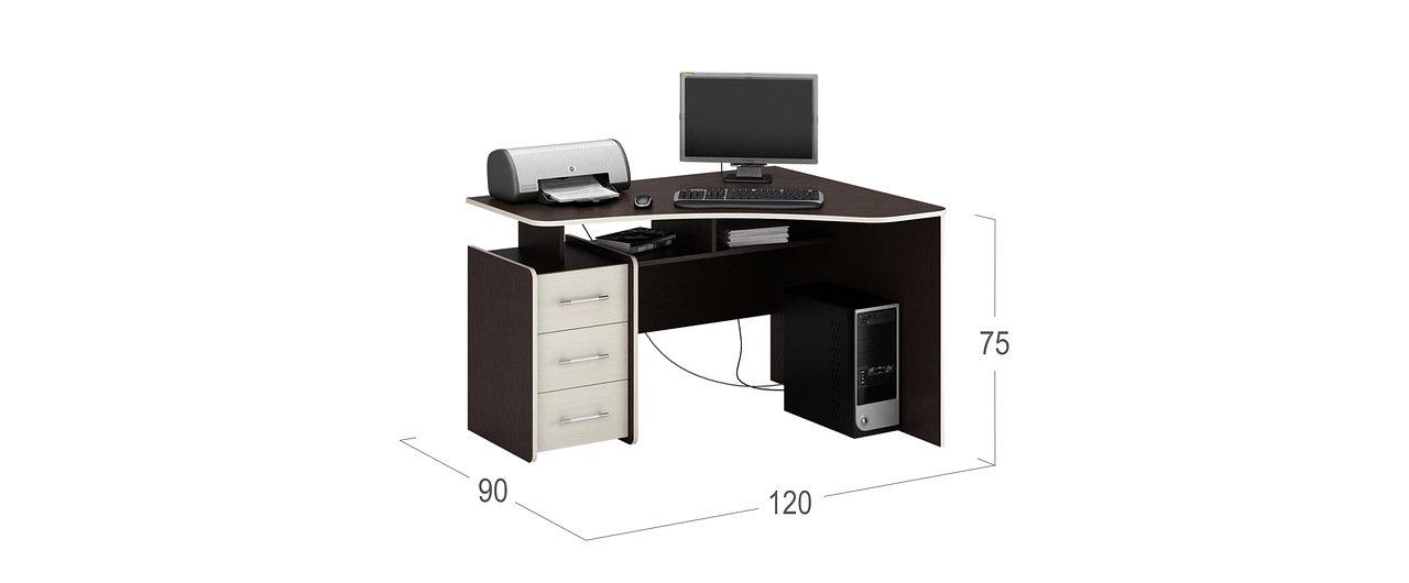 Стол Триян-5 угловой ПРАВЫЙ Модель 838