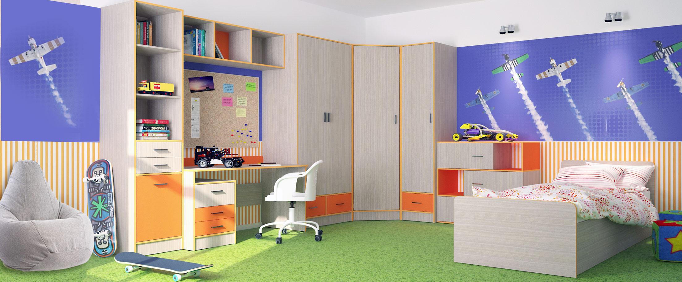 Детская цвета манго Скейт-3 Модель 515