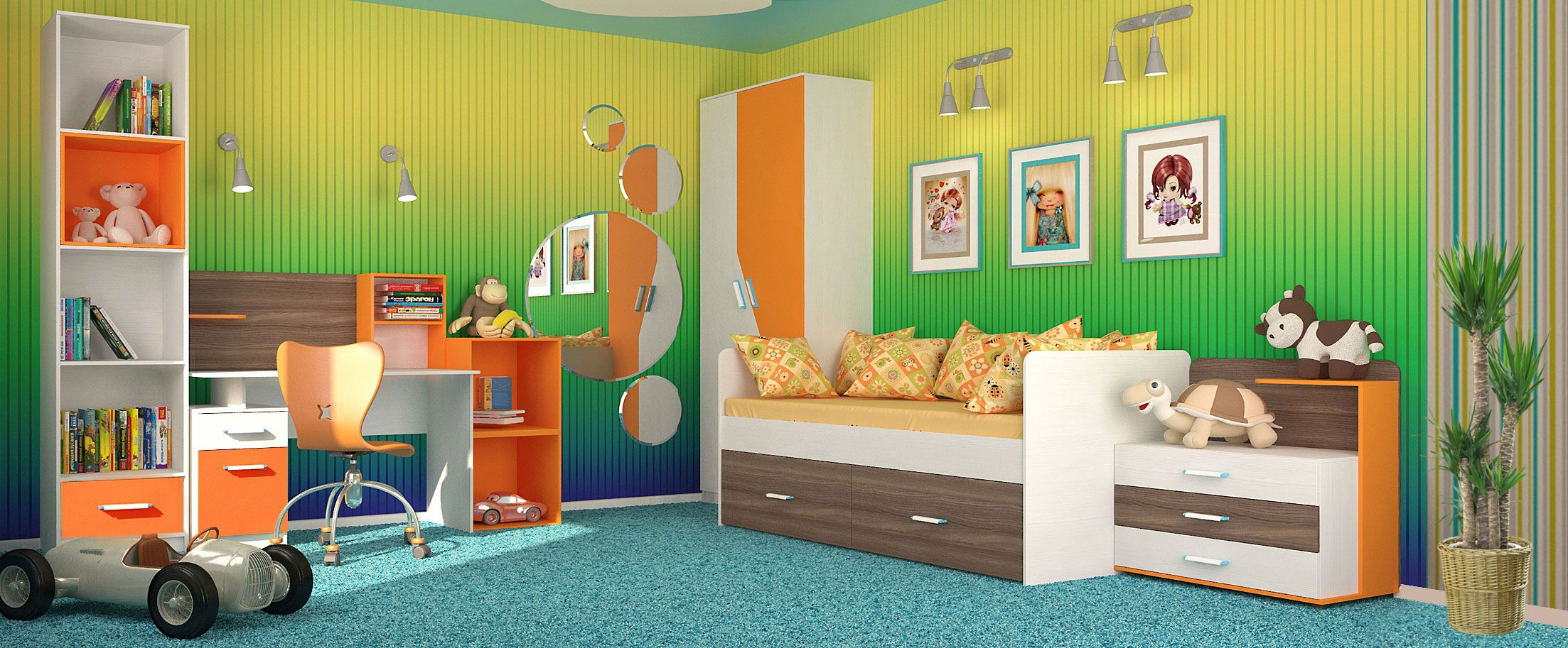 Детская цвета манго Скейт-5
