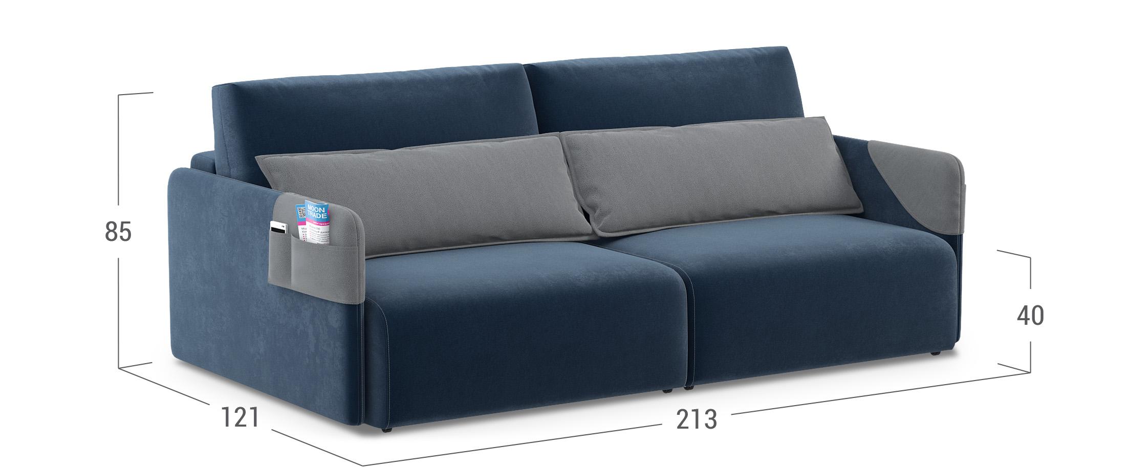 диван прямой еврокнижка барселона синий купить в москве в интернет