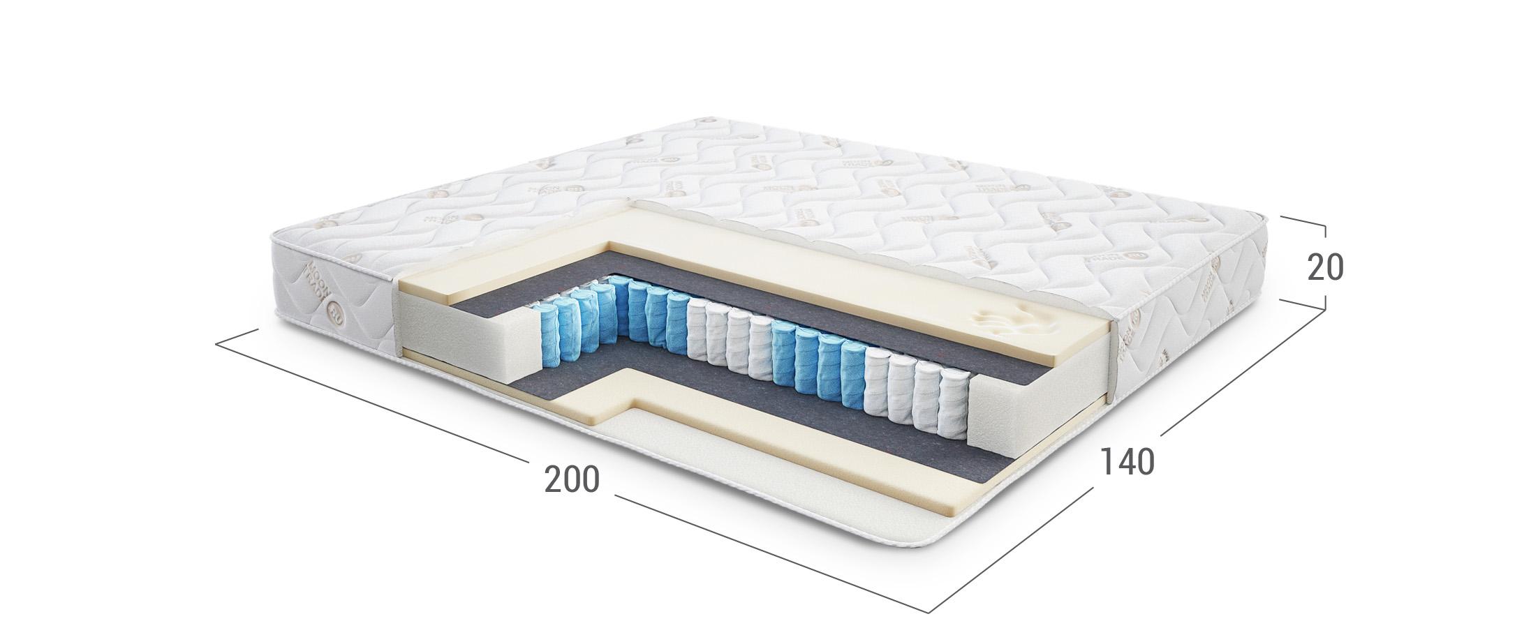 Comfort Rest 404 матрас 140x200Матрас средней жёсткости. Поддерживает тело во время сна, учитывая его анатомические особенности. Размеры 140x200 см. Купить в интернет-магазине MOON TRADE.
