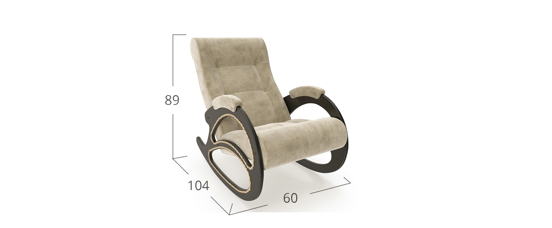 Кресло качалка 4 Verona Vanilla-Venge Модель 364