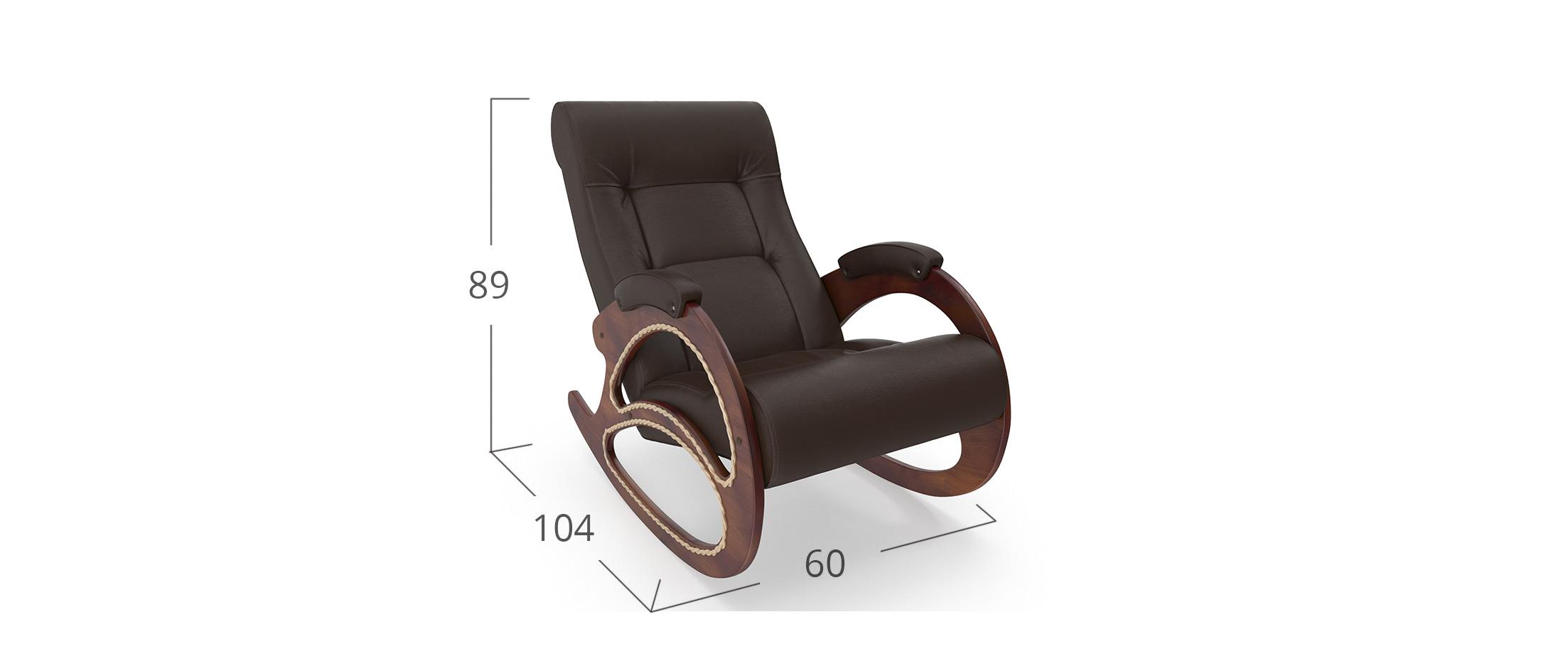 Кресло качалка 4 Dundi108-Орех Модель 364