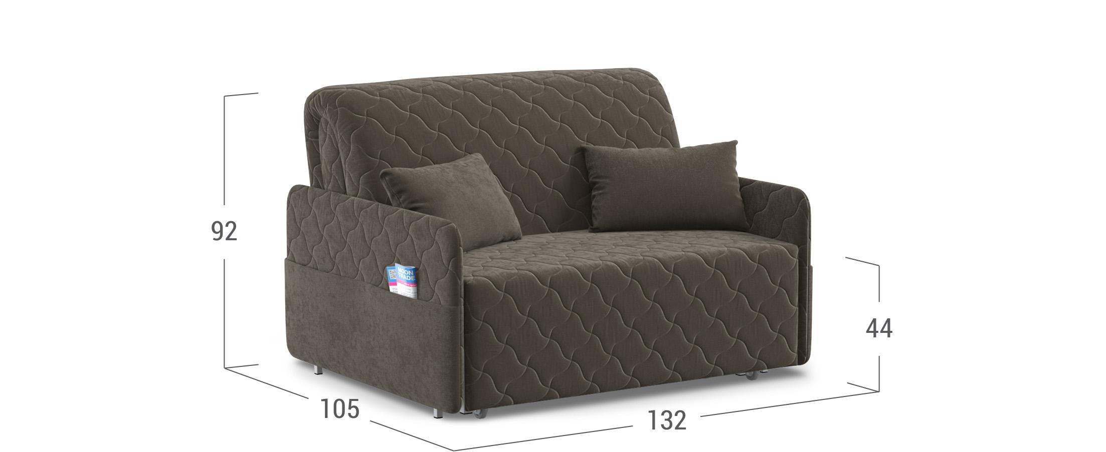диван прямой аккордеон коричневый страйк 119 купить в москве в