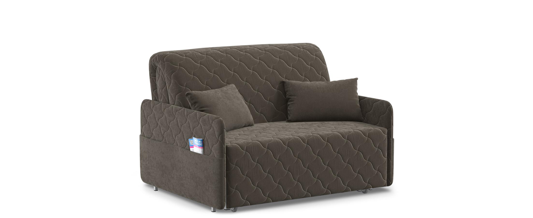 Диван прямой аккордеон Страйк 119Гостевой вариант и полноценное спальное место. Размеры 132х105х92 см. Купить коричневый диван аккордеон в интернет-магазине MOON-TRADE.RU