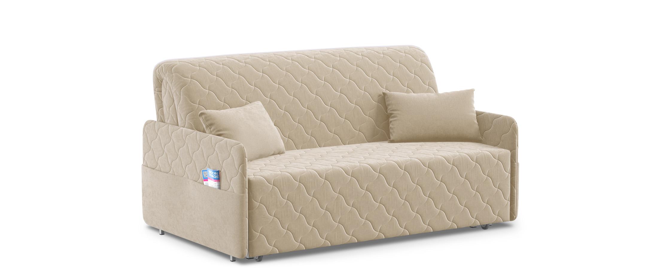 Диван прямой аккордеон Страйк 119Гостевой вариант и полноценное спальное место. Размеры 172х105х92 см. Купить бежевый диван аккордеон в интернет-магазине MOON-TRADE.RU