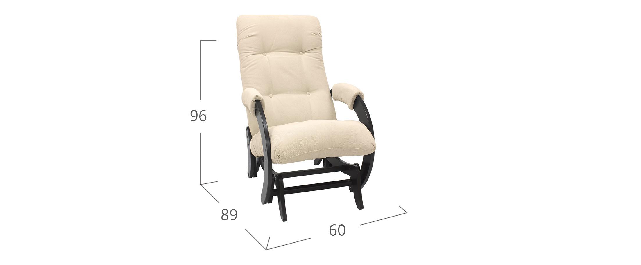 Кресло-гляйдер 68 Verona Vanilla Венге
