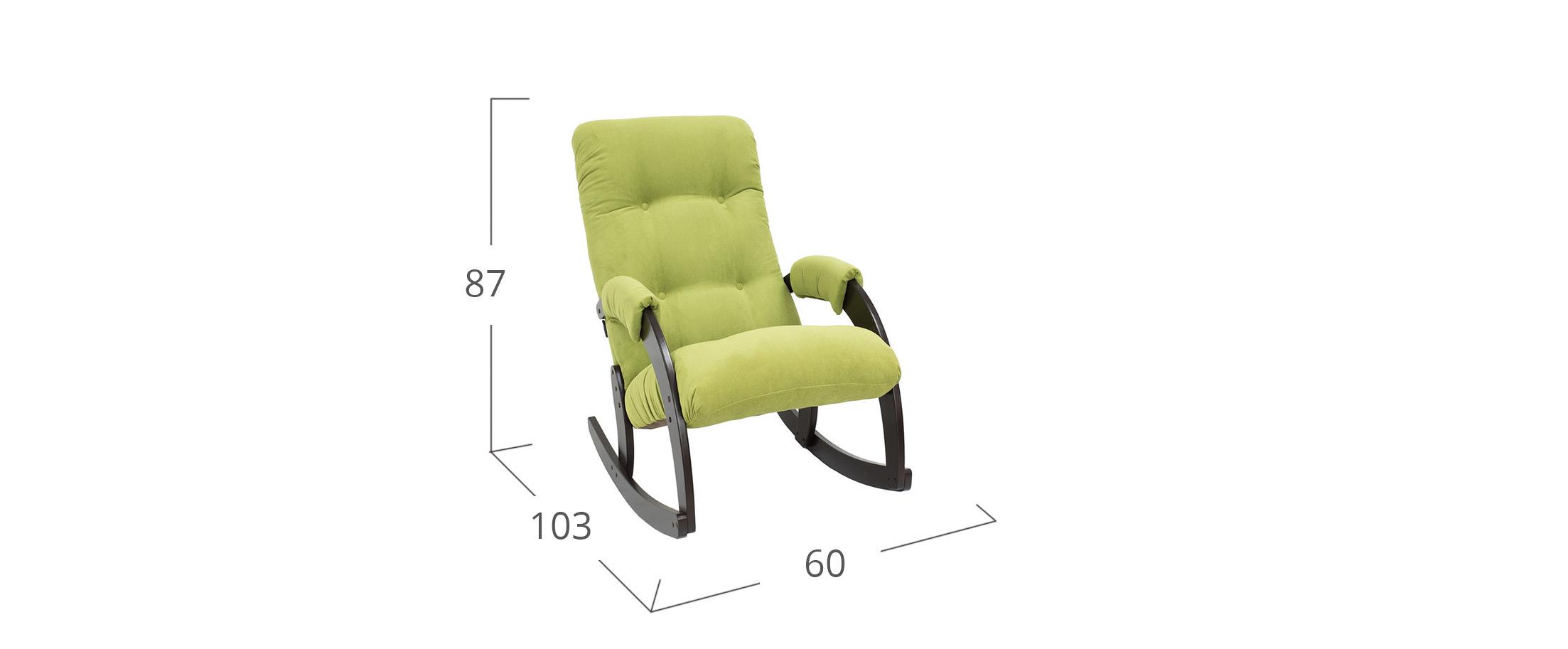 Кресло-качалка 67 Verona Apple Green Венге Модель 364Кресло-гляйдер 67 Модель 364 артикул С000134