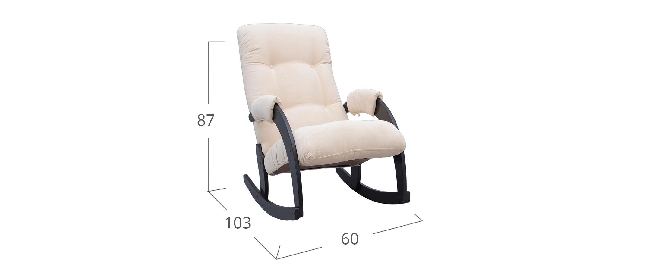 Кресло-качалка 67 Verona Vanilla, венге  Модель 364