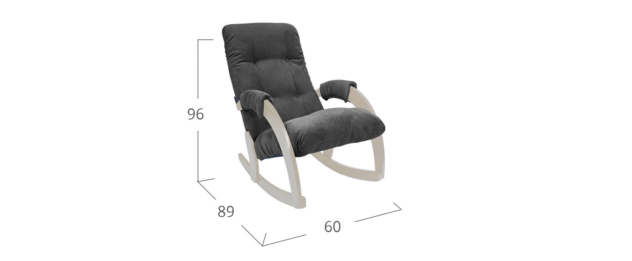 Кресло-качалка 67 Verona Antrazite, дуб шампань Модель 364