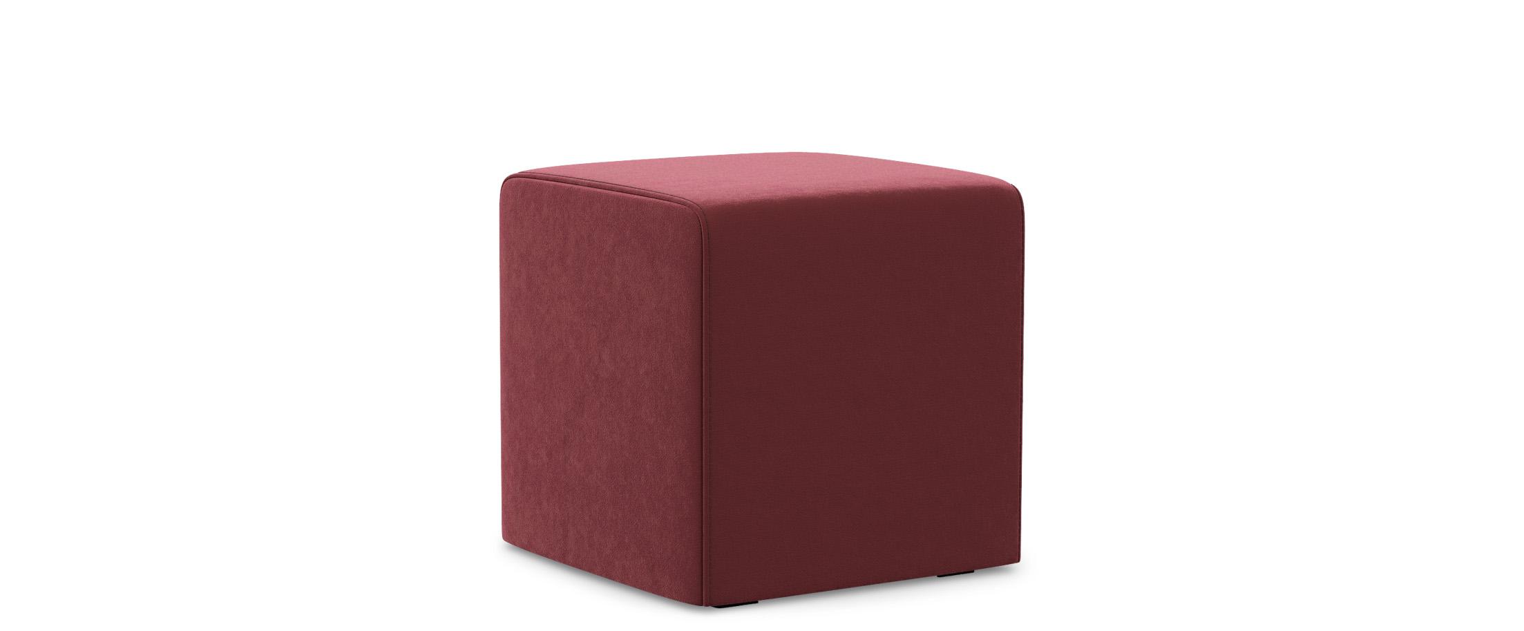 Купить Пуф куб, MOON TRADE, Бордовый, Велюр