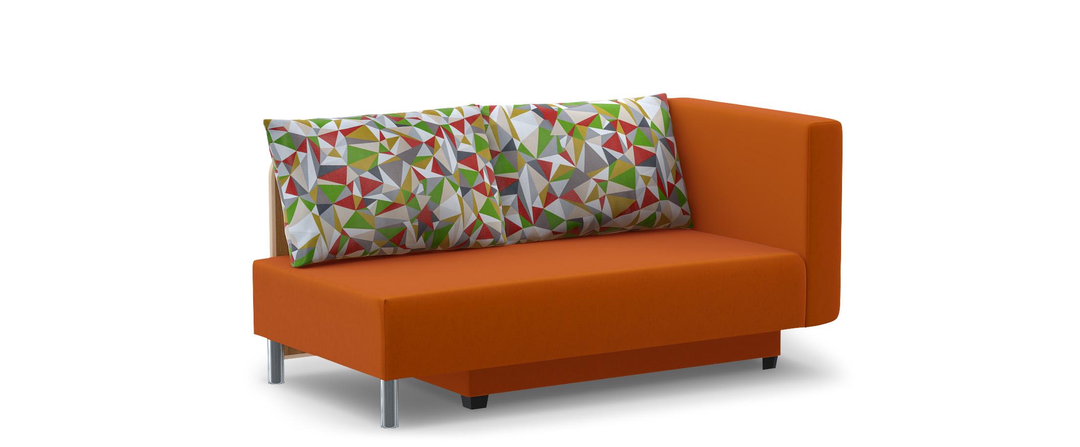 Диван прямой еврокнижка Лион 060Гостевой вариант и полноценное спальное место. Размеры 155х84х79 см. Купить оранжевый диван еврокнижка с правым подлокотником в интернет-магазине MOON-TRADE.RU.
