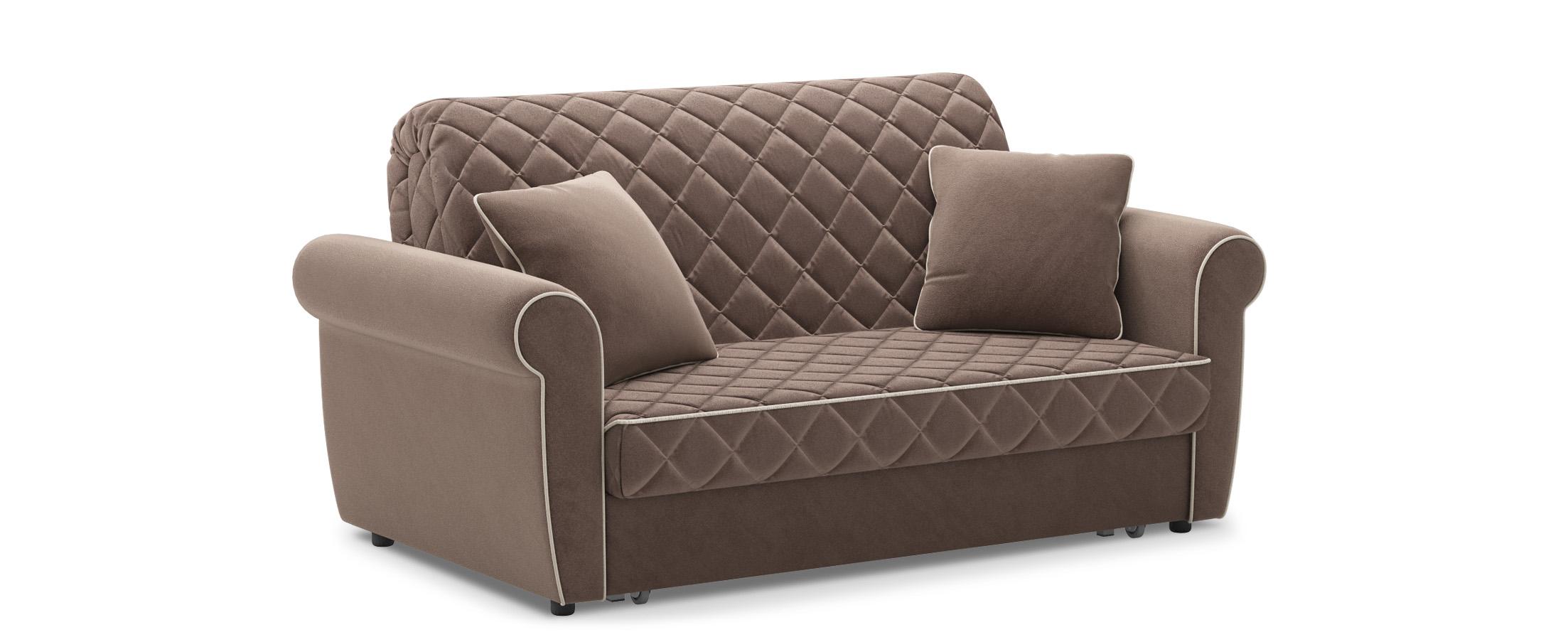 Диван прямой аккордеон Гамбург 123Гостевой вариант и полноценное спальное место. Размеры 180х105х91 см. Купить коричневый диван аккордеон в интернет-магазине MOON-TRADE.RU