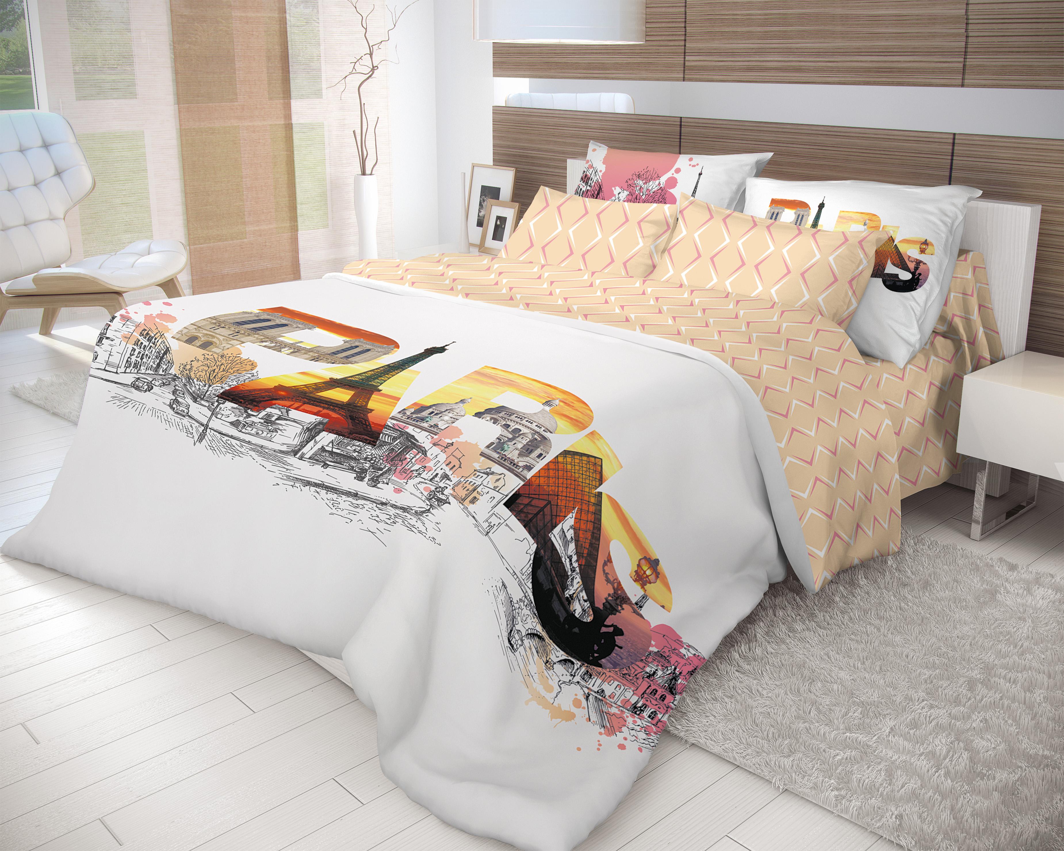 Комплект постельного белья Волшебная ночь Paris 2.0 спКомплект постельного белья Paris станет неповторимой изюминкой Вашей спальни. Артикул К001066