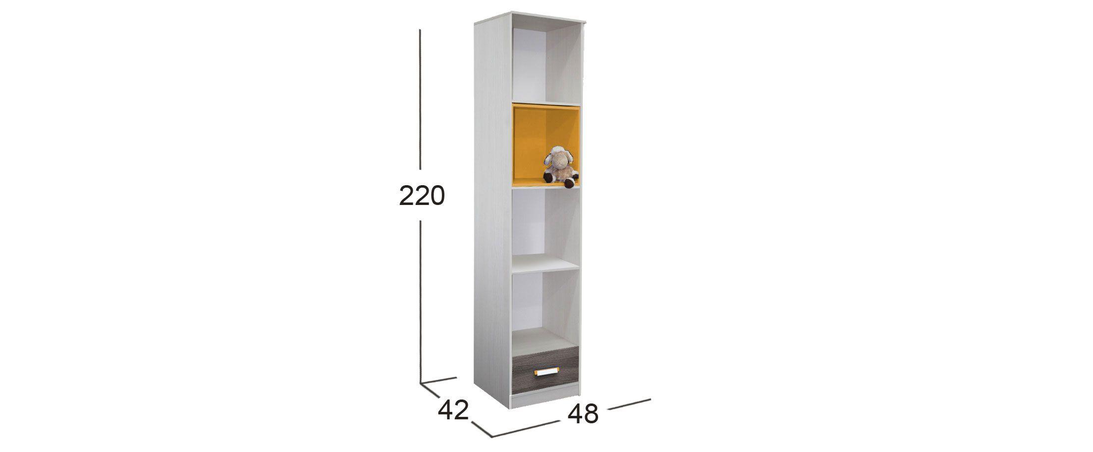 Открытый шкаф Скейт-5 с ящиком Модель 516