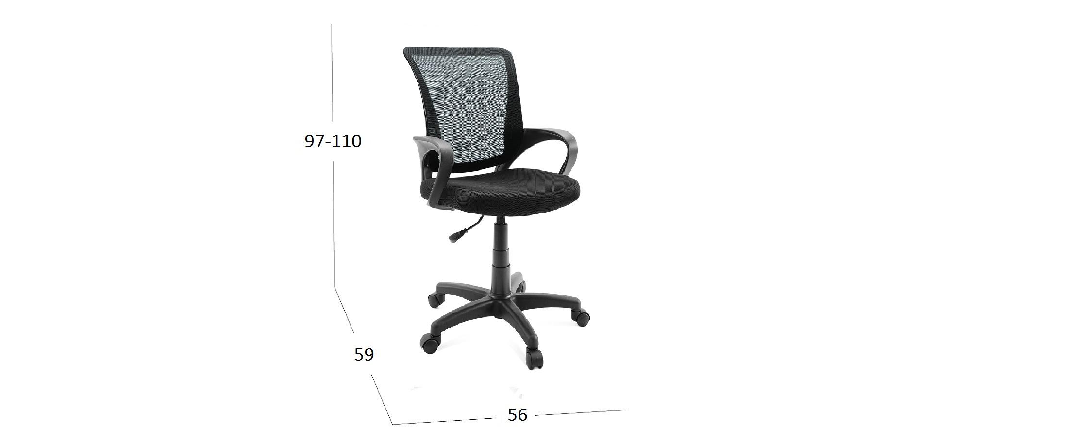 Кресло SN13 Модель 376Кресло офисное SN13 черное Модель 376. Артикул Д001067