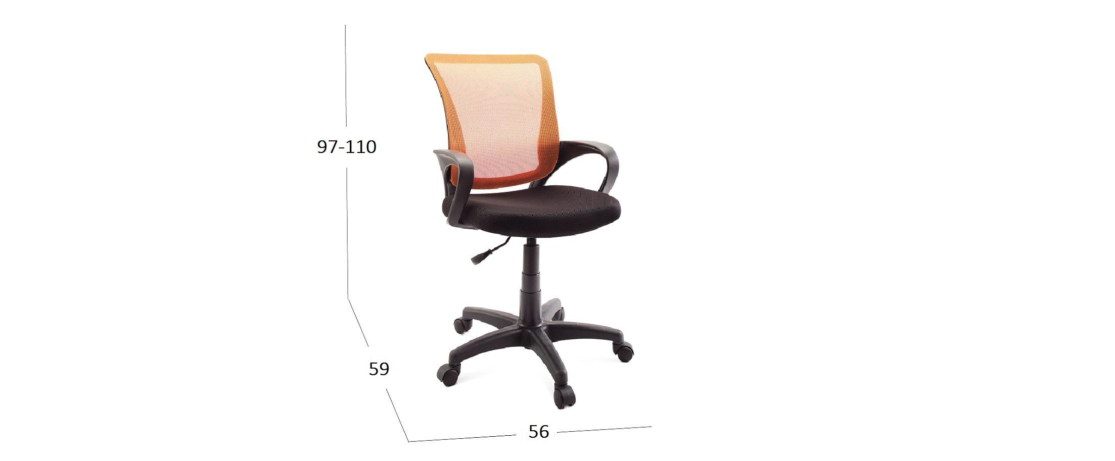 Кресло SN13 Модель 376Кресло офисное SN13 оранжевый Модель 376. Артикул Д001070