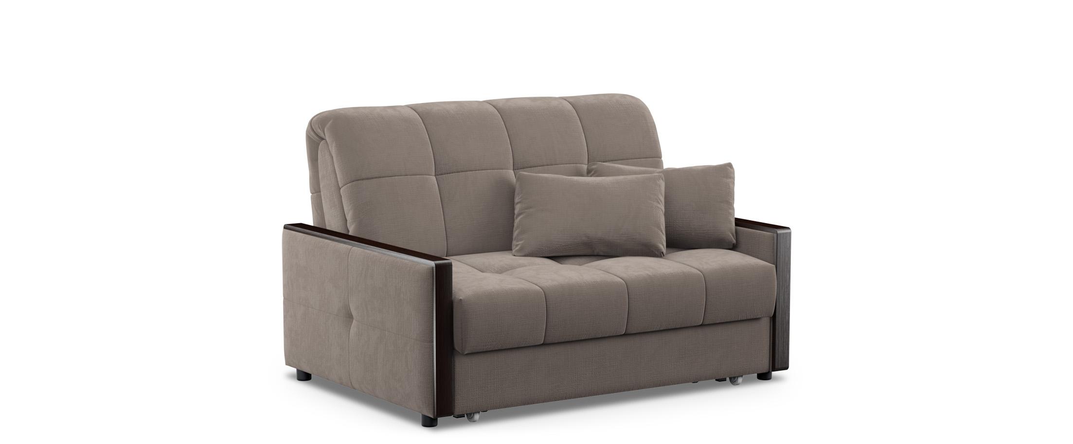 Диван прямой аккордеон Мадрид 125Гостевой вариант и полноценное спальное место. Размеры 139х104х90 см. Купить коричневый диван аккордеон в интернет-магазине MOON-TRADE.RU