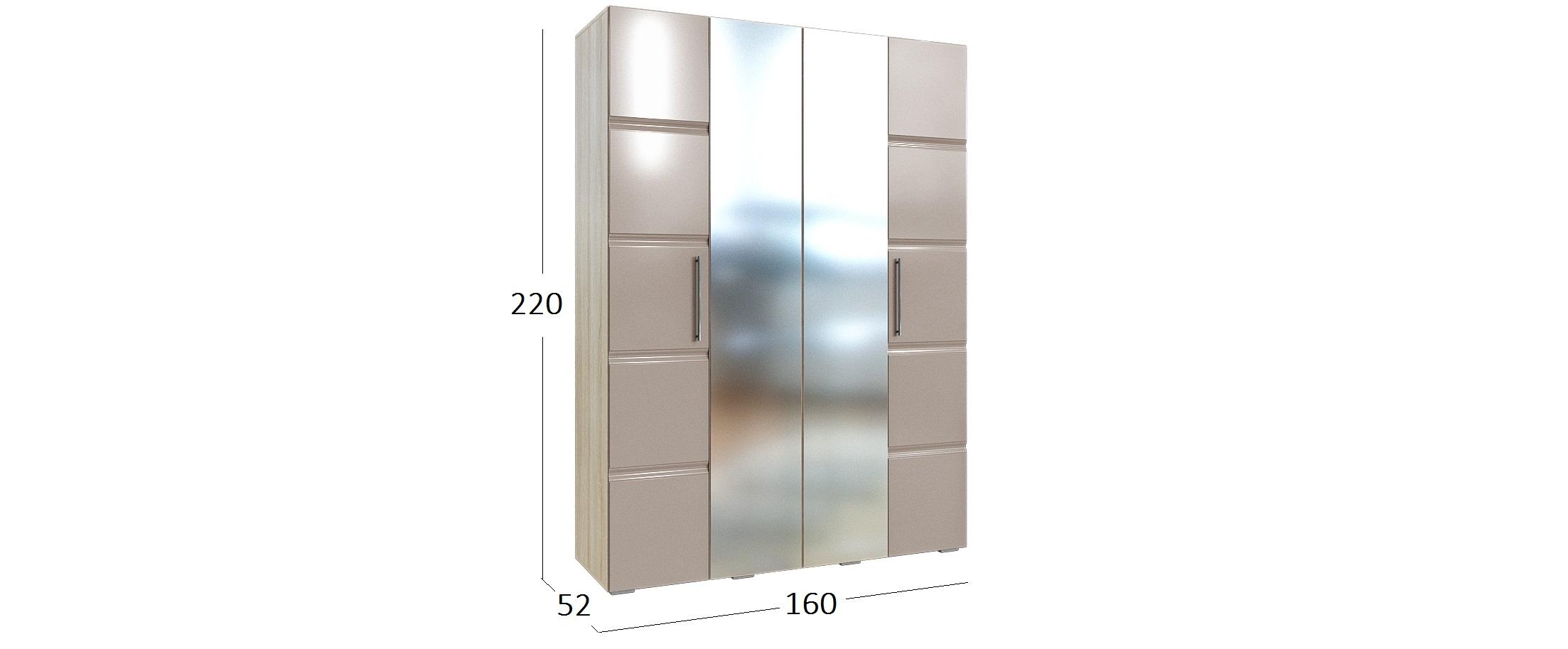 Шкаф для одежды 4-х дверный София Fresh Модель 512