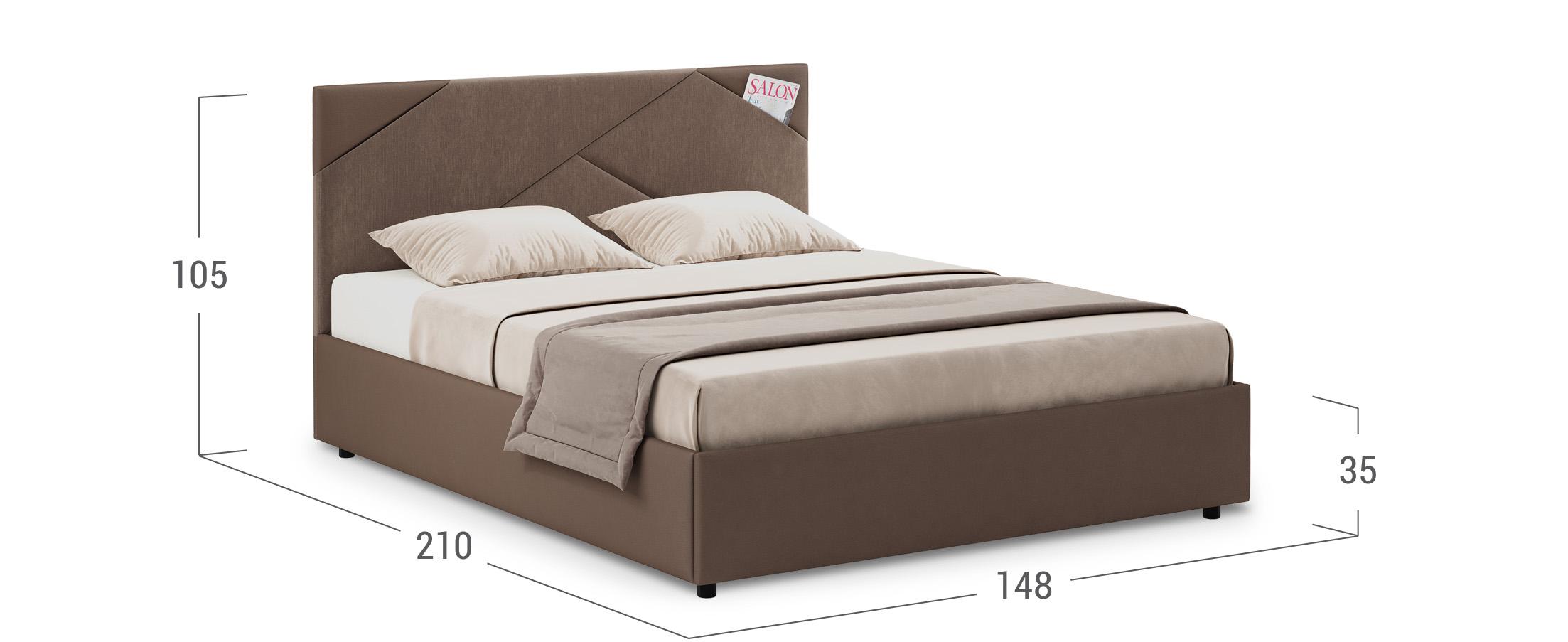 Кровать двуспальная Альба 140х200 Модель 1206