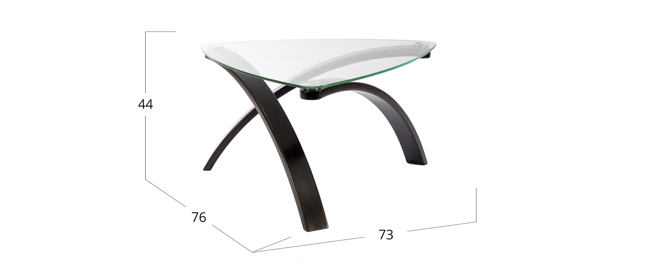 Журнальный стол Гурон 3 Модель 579Основание- это гибкий гнутоклееный шпон, не уступающий по свойствам массиву дерева- одного из самых экологически чистых материалов,