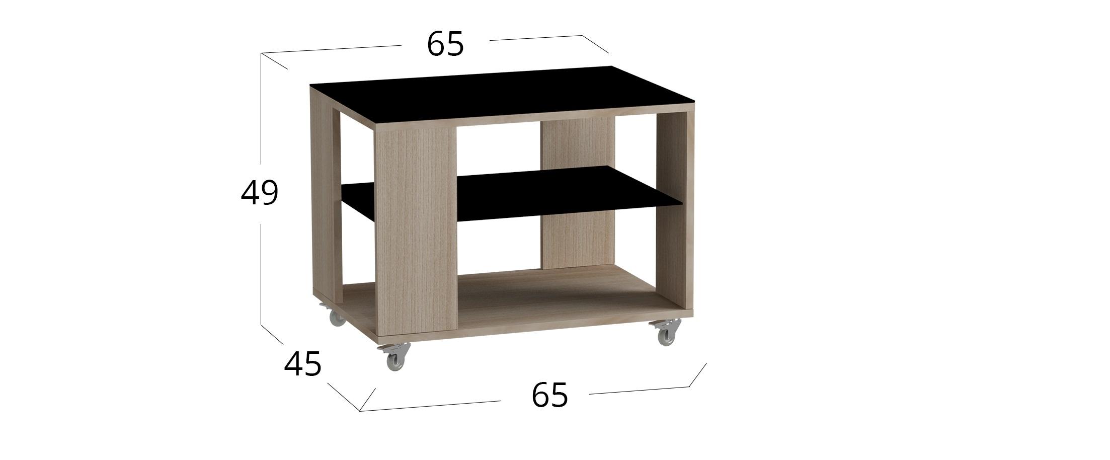 Стол 733 Модель 579Стол журнальный ясень светлый черное стекло - купить  в интернет-магазине MOON TRADE Д001191