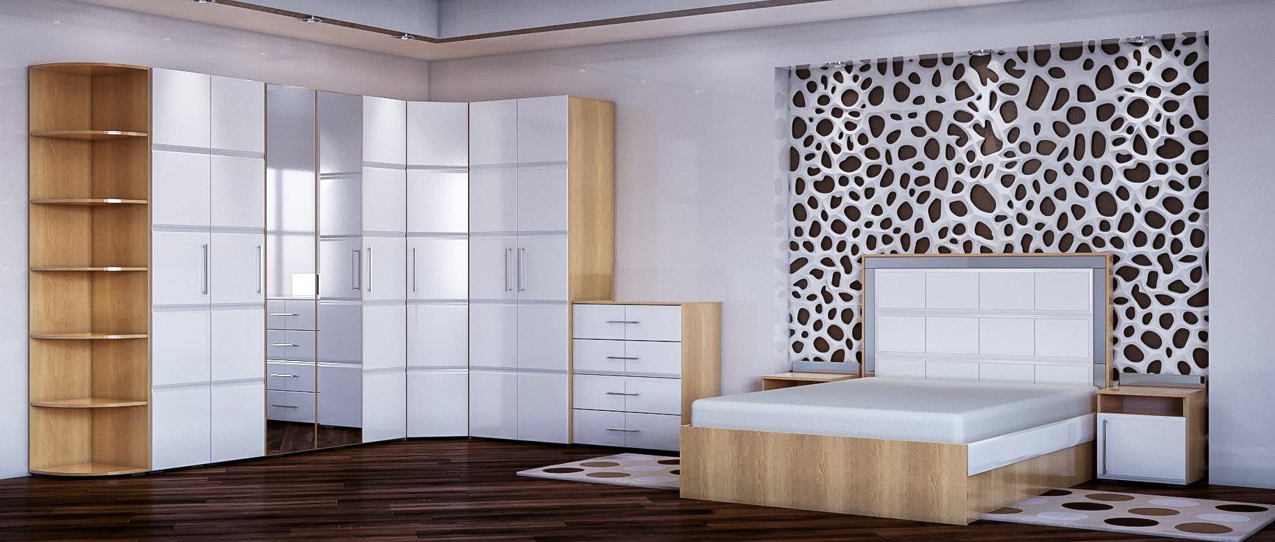 Спальня София Модель 512София- уютная, светлая спальня в белом глянце. Современный стиль и превосходное качество.