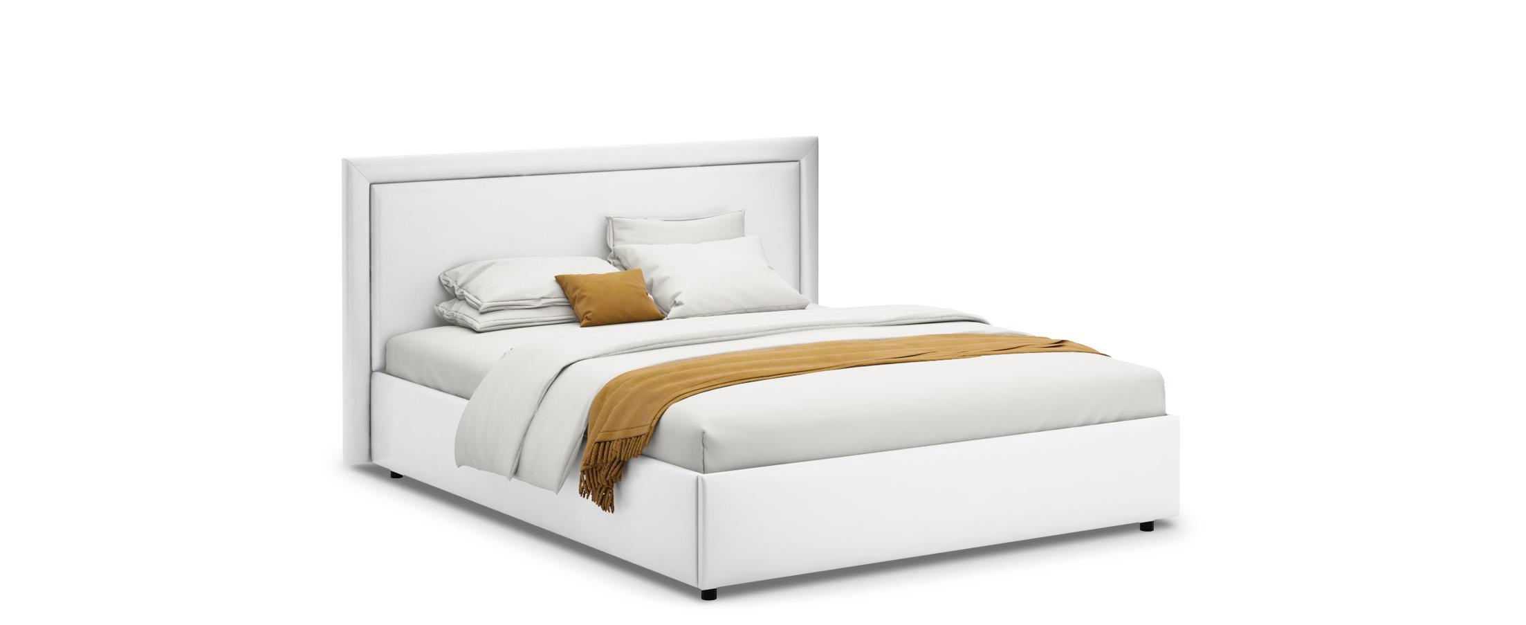 Кровать двуспальная Паола 140х200 Модель 1201Прямоугольная форма изголовья кровати Паола с мягкой рамой по краям напоминает собой картину. Простые строгие формы без лишних деталей позволяют вписать эту кровать в интерьер практически любого стилистического направления.