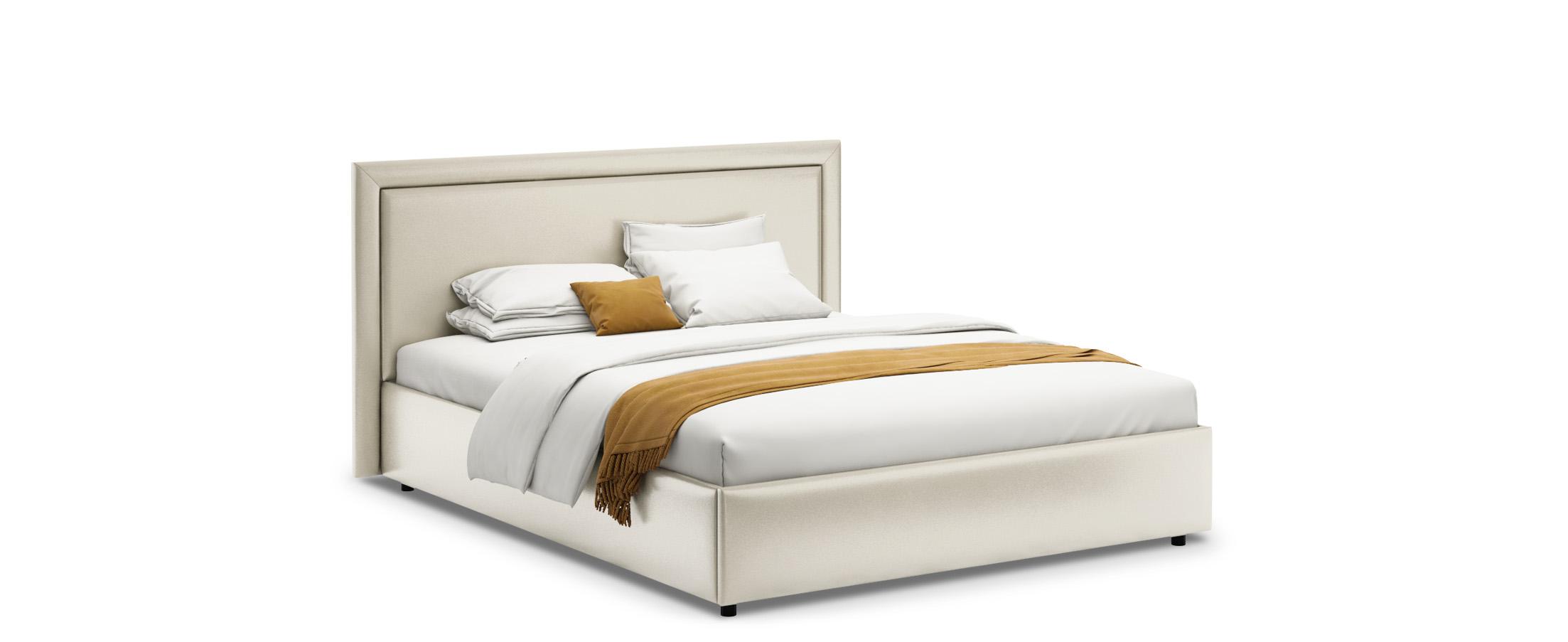 Кровать двуспальная Паола 160х200 Модель 1201Прямоугольная форма изголовья кровати Паола с мягкой рамой по краям напоминает собой картину. Простые строгие формы без лишних деталей позволяют вписать эту кровать в интерьер практически любого стилистического направления.