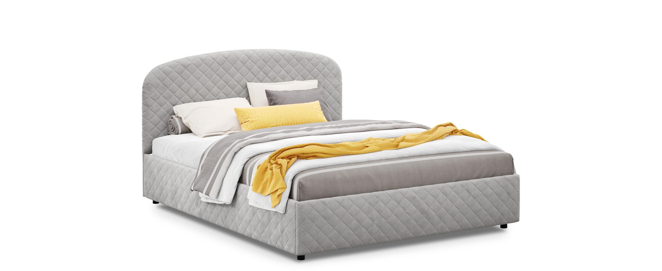 Кровать двуспальная Аллегра 180х200 Модель 1204Благодаря лаконичным формам она может стать как центральным предметом просторного помещения, также будет гармонично смотреться в небольшой спальной комнате.