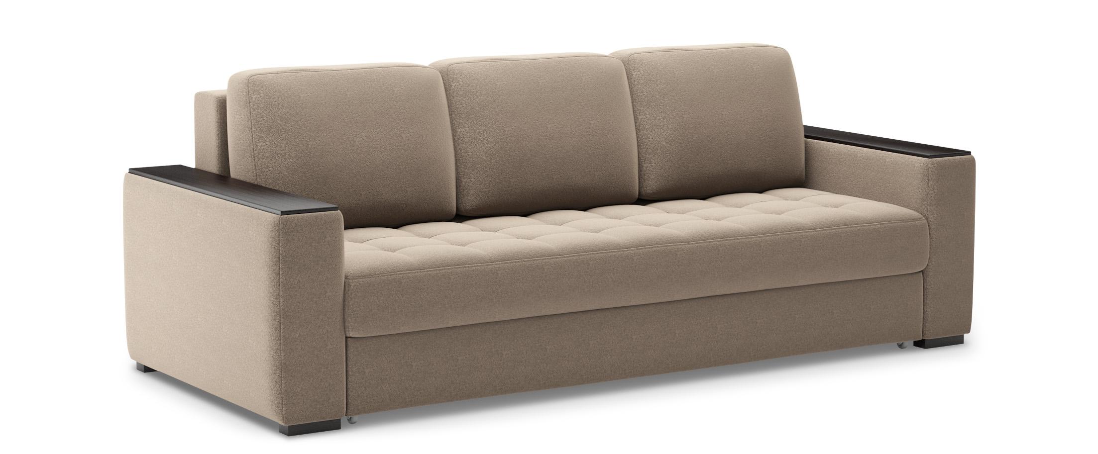 Диван прямой еврокнижка Милан 127Гостевой вариант и полноценное спальное место. Размеры 242х106х93 см. Купить коричневый диван еврокнижка в интернет-магазине MOON-TRADE.RU