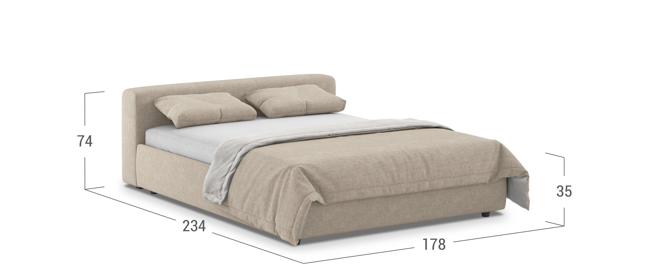 Кровать двуспальная MOON 1007a