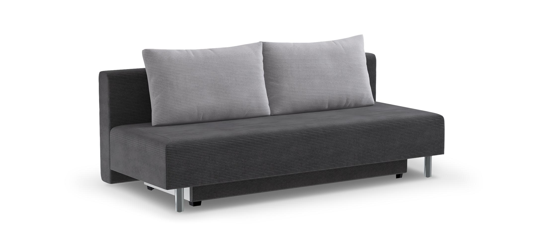 Диван прямой еврокнижка Парма 049Гостевой вариант и полноценное спальное место. Размеры 205х88х87 см. Купить серый диван еврокнижка в интернет-магазине MOON-TRADE.RU.