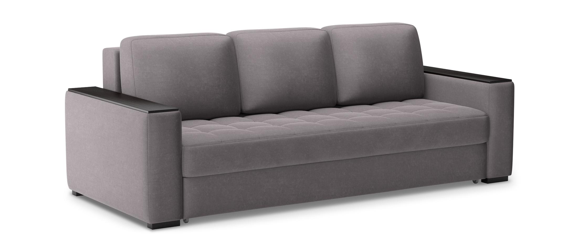 Диван прямой еврокнижка Милан 127Гостевой вариант и полноценное спальное место. Размеры 242х106х93 см. Купить серый диван еврокнижка в интернет-магазине MOON-TRADE.RU