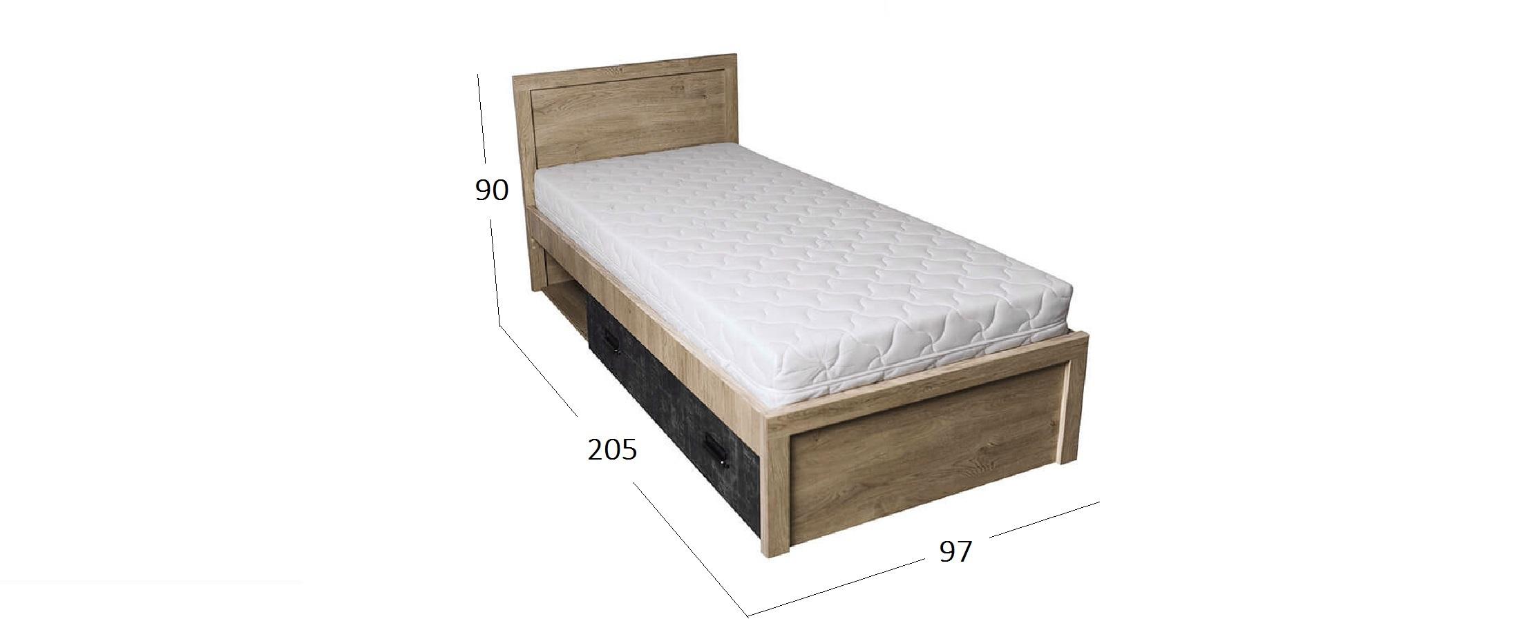 Кровать Дизель на 90 Модель 732Кровать Дизель на 90 Модель 732. Артикул Д001241